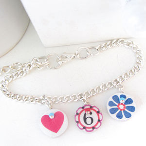 Birthday Year Age Number Bracelet - charms & charm jewellery