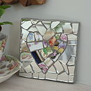 Personalised Mosaic Heart Mirror Plaque
