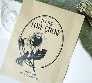 Set Of 10 Personalised Retro Seed Packet Favour