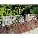 'Mr & Mrs' Freestanding Wooden Letters