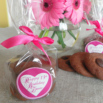 Personalised Chocolate Biscuit Table Favours