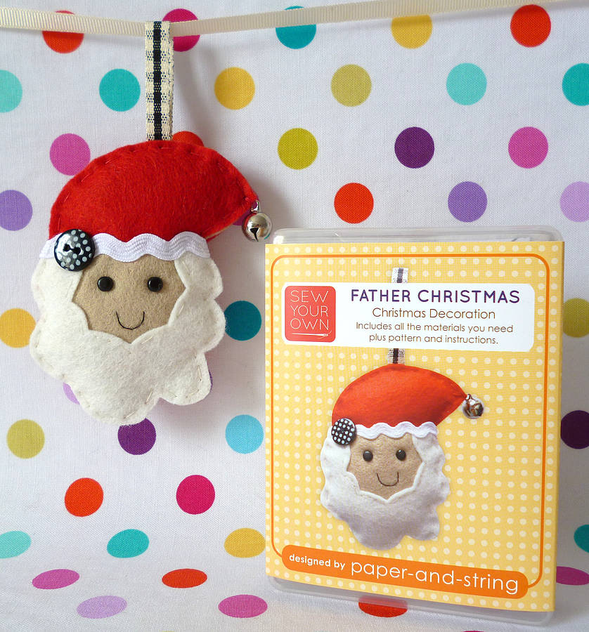 Father Christmas Decoration Mini Kit By Paper And String ...