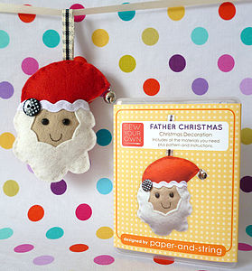 Father Christmas Decoration Mini Kit - sewing & knitting