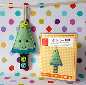 Christmas Tree Decoration Mini Sewing Kit - christmas decorations
