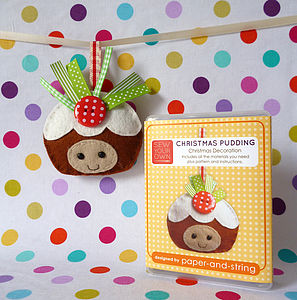 Christmas Pudding Decoration Mini Sewing Kit - christmas decorations