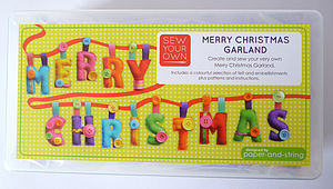 Merry Christmas Garland Felt Sewing Kit
