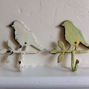 Rustic Bird Hook - bathroom