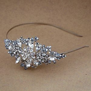 Silver Crystal And Diamante Side Tiara - wedding fashion