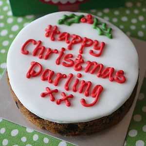 Christmas Cake Card - stocking fillers under £15