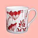 Cow Parsley Design Mug