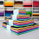 Rainbow Pack Of Wool Mix Felt