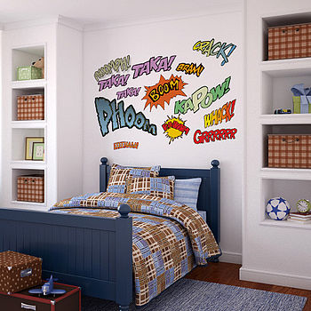 Superhero Comic Book Wall Stickers