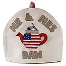 personalised american flag tea cosy front