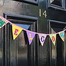 Welcome Bunting on Front Door