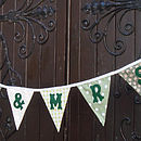 large Mr & Mrs Bunting in Sage Greens
