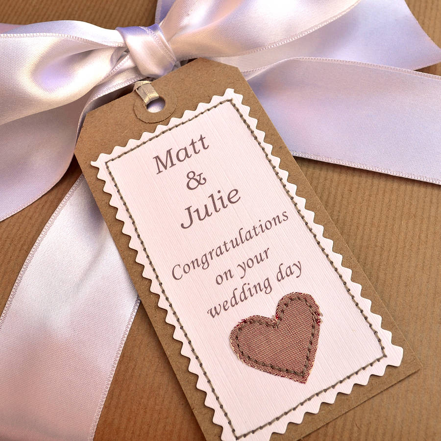 42 Personalised Handmade Wedding Gift Tag By Jenny Arnott Cards Gifts