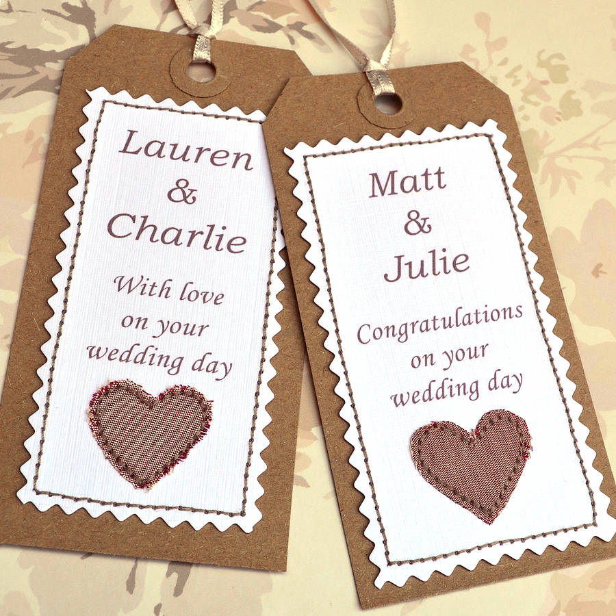 Personalised Wedding Gift Tags : personalised handmade wedding gift tag by jenny arnott cards & gifts ...