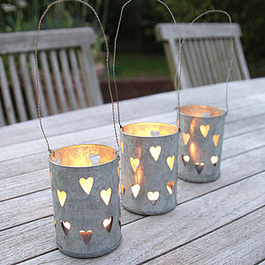 Hanging Hearts Lantern - candles & candlesticks