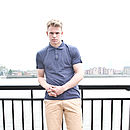 Men's Plain Navy Polo Shirt