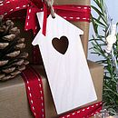Wooden Heart And Home Gift Label
