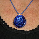 Neon Rose Necklace