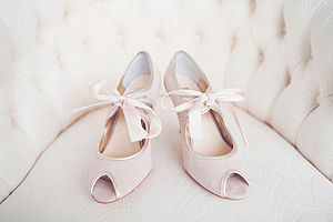 Agnes Suede Wedding Shoes - bridal shoes