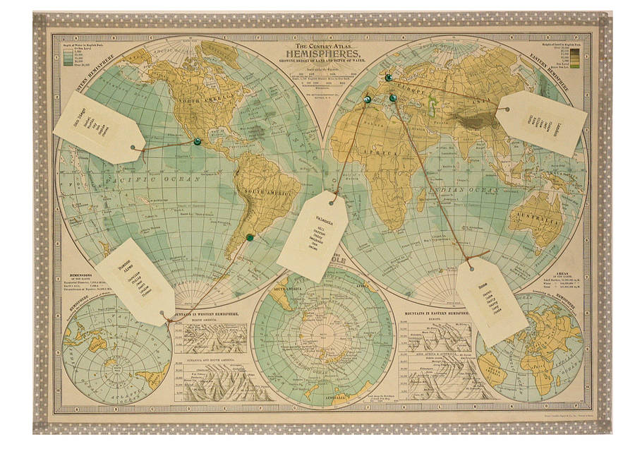 table plan map of the world