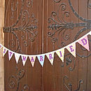 Just Married Bunting in Country Florals
