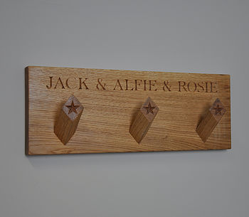 Personalised Solid Oak Peg Board