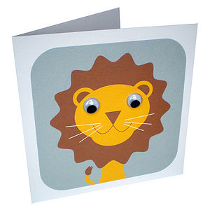 Livingston Lion Card - birthday cards