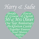 Personalised Wedding Heart - Green
