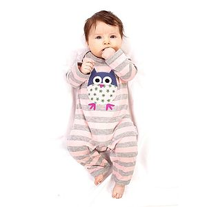 Striped Owl Sleepsuit - bodysuits & all-in-ones