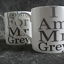 Mr Grey Wording Mug