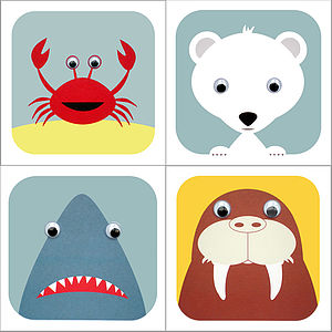 Pack Of Sea Life Animal Cards