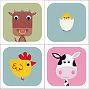 Pack Of Farmyard Animal Cards