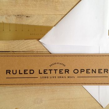 Letter Opener 'Break the Rules'