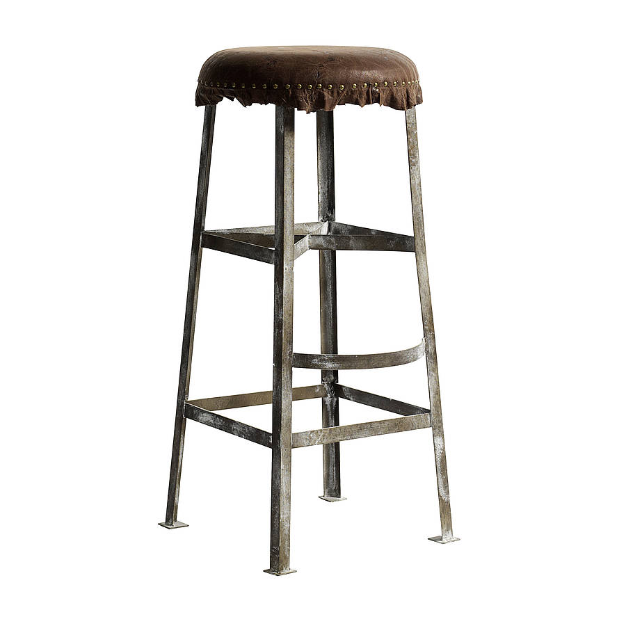 nordal vintage style bar stool by bell amp blue  : originalvintage metal with leather bar stool from www.notonthehighstreet.com size 900 x 900 jpeg 50kB