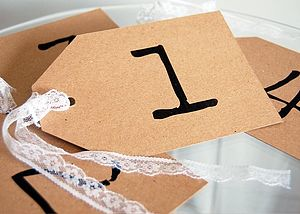 Table Number Or Name Tag - place cards