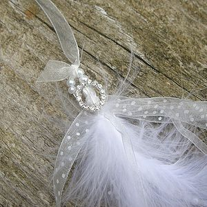 Feather And Pearl Lucky Horseshoe - wedding fashion