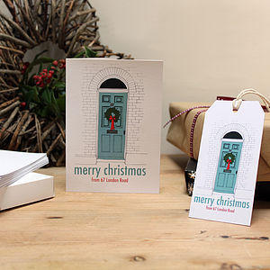Pack Of Personalised Christmas Cards
