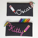Black with white writing and Black with pink writing Standard Pencil Cases