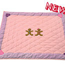 Pink and Lilac Gingerbread Children's Floor Quilt Large
