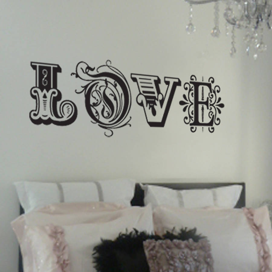 39 love 39 wall sticker by nutmeg Wall stickers for bedrooms