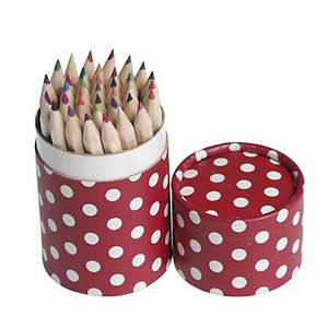 36 Pencils In Retrospot Tube - children's parties