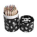 36 Mini Pencils In A Skull Pirate Tube