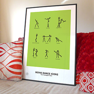 Personalised Movie Dance Print - pictures, prints & paintings