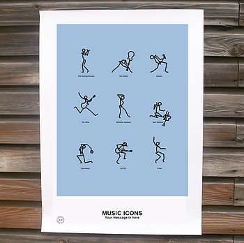 Personalised Music Icons Print