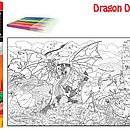 Dragon And Knight Colouring Poster And Pens