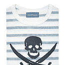 Skull T-shirt Grey & White Breton