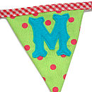 Welcome Bunting 'M' Flag